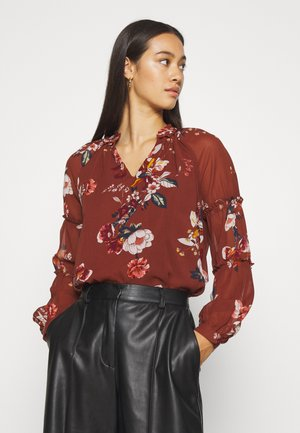 VMLOVELY VNECK - Blouse - sable