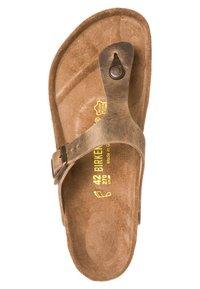Birkenstock - GIZEH - T-bar sandals - tabakbraun - 6
