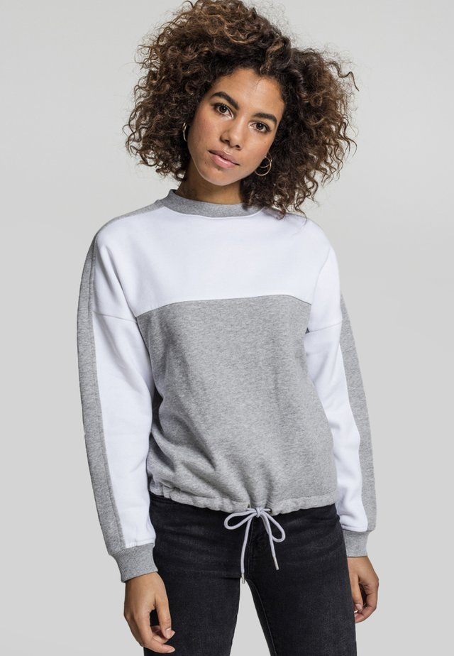 Sweter - grey/white