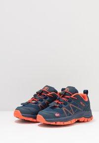 TrollKids - KIDS SANDEFJORD LOW UNISEX - Hiking shoes - mystic blue/orange - 3