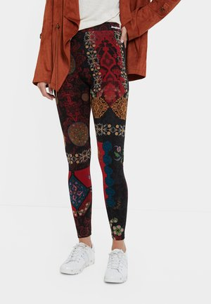 GALACTIC - Leather trousers - red