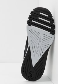 Under Armour - TRIBASE EDGE TRAINER - Obuwie treningowe - black/white/halo gray - 4