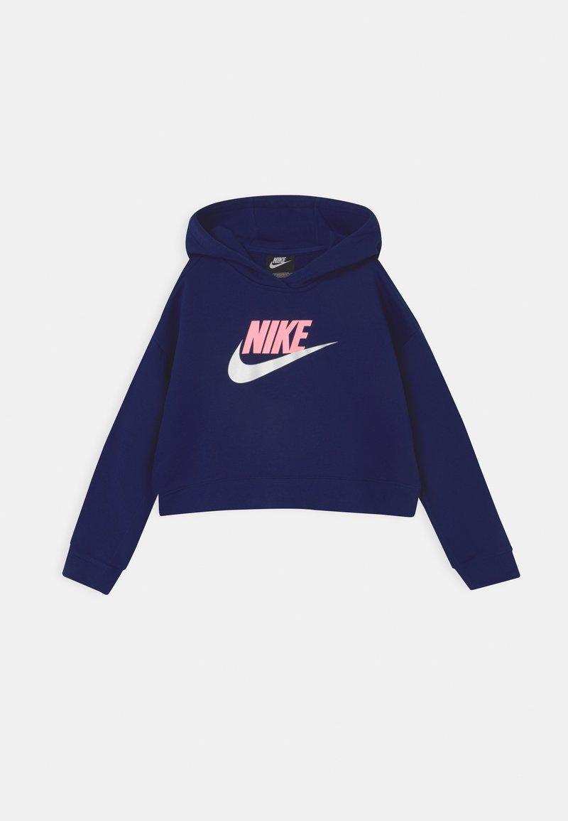 Nike Sportswear - PLUS CLUB CROP HOODIE - Sweatshirt - blue void/arctic punch/white