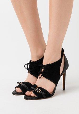 FRANCINE - Sandály na vysokém podpatku - nero limousine