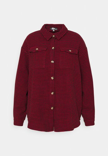 DOGTOOTH SHACKET WITH POCKETS