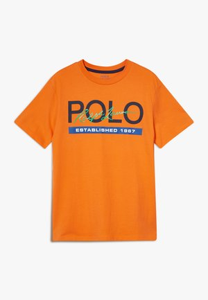T-shirt con stampa - bright signal orange