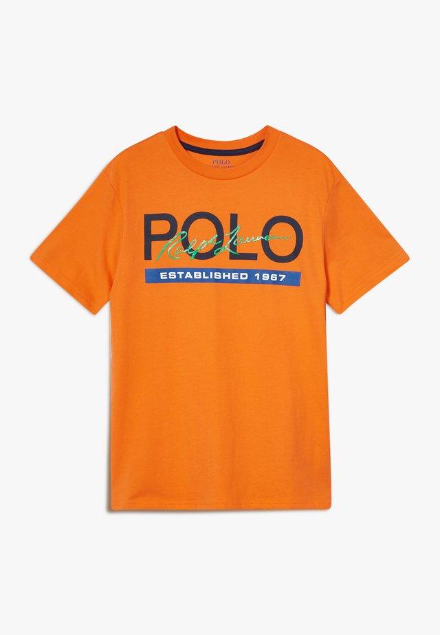 T-Shirt print - bright signal orange