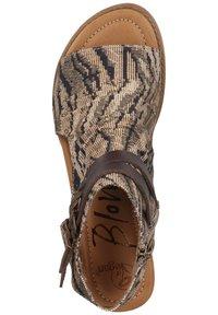 Blowfish Malibu - Ankle cuff sandals - tiger safari blanket/tobac dyecut - 2