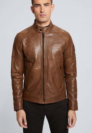 UNIVERS - Leather jacket - tabac