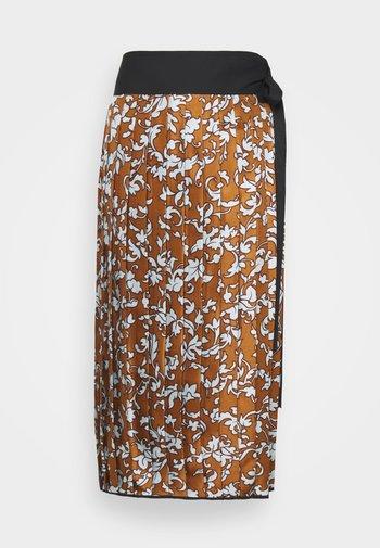 PRINTED PLEATED SKIRT - Pencil skirt - multi-coloured