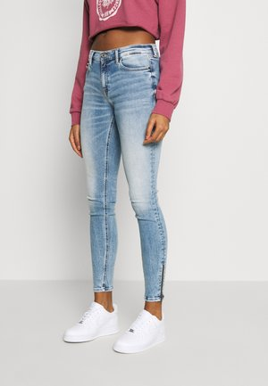 NORA ANKLE ZIP - Skinny džíny - light-blue denim