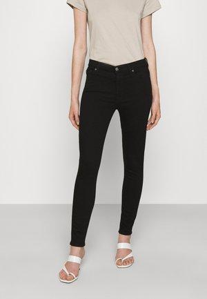 CROP RINSED - Jeans Skinny Fit - black