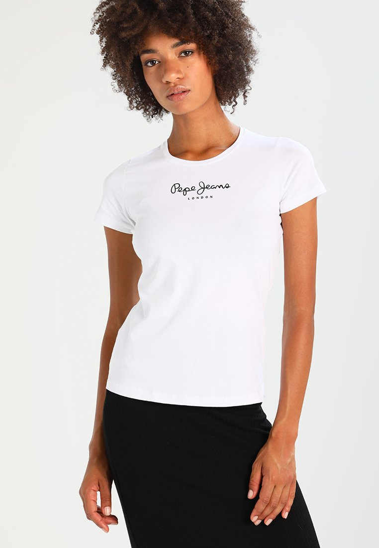 Pepe Jeans - NEW VIRGINIA - Print T-shirt - white