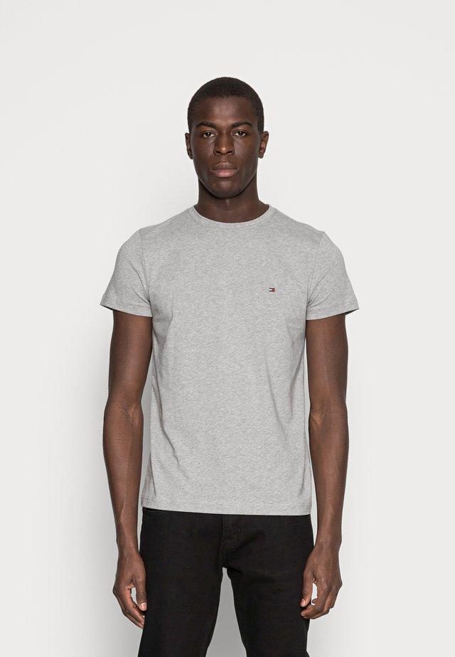 NEW STRETCH TEE C-NECK - T-shirt - bas - cloud heather
