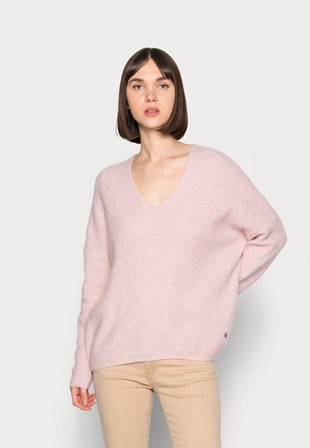 THORA VNECk - Sweter - burnished lilac