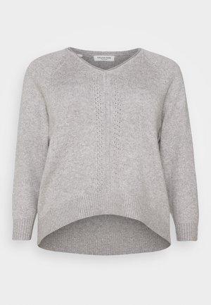 SLFPOLLY  V-NECK - Jumper - light grey