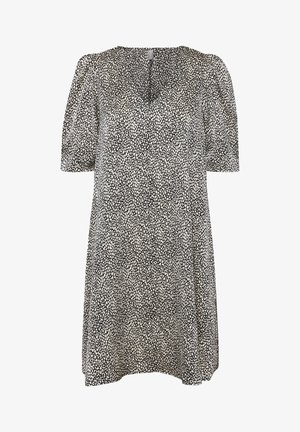 Day dress - black dot