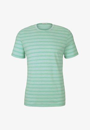 Print T-shirt - lucite green fine stripe
