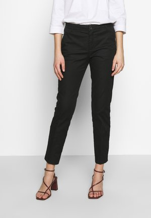 TROUSERS - Chinosy - black