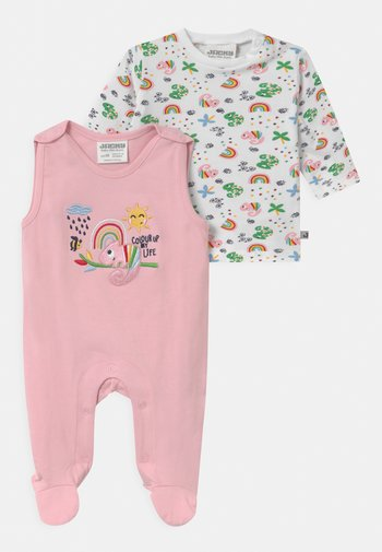 COLOUR UP MY LIFE - Pyjama top - light pink/white