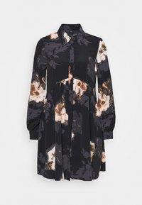 LISA SMOCK SHIRT DRESS  - Košilové šaty - black
