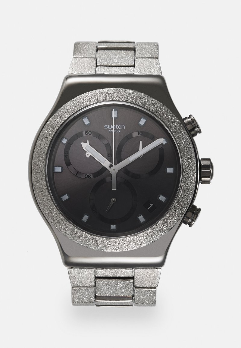 Swatch - SILVER EXPLOSION - Chronograph watch - silver-coloured