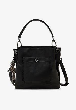 THAIS RE - Handväska - black faux leather