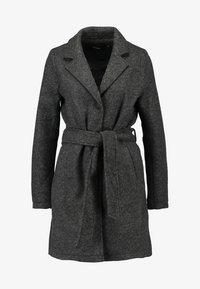 Vero Moda - VMNINA BRUSHED - Classic coat - dark grey melange - 4