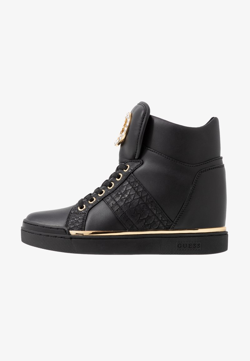 essi cibo temporaneo  Guess FREETA - Sneakers alte - black/nero - Zalando.it
