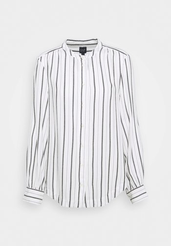 SHIRRED - Blouse - black white