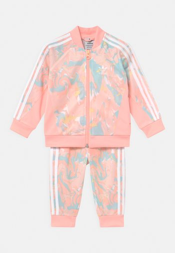 SET - Training jacket - pink tint/multicolor/haze coral