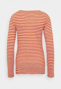 Marc O'Polo - LONG SLEEVE BOAT NECK STRIPED - Long sleeved top - multi/pumpkin orange - 1