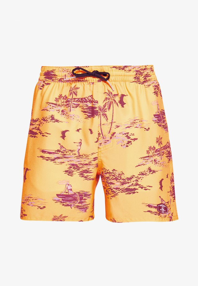 TROPICAL - Badeshorts - yellow/brown