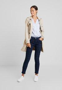 Yargici - PRINTED TROUSER - Slim fit jeans - dark indigo - 1