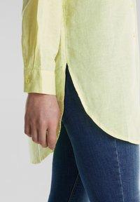Esprit - Button-down blouse - lime yellow - 5