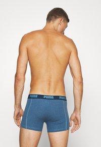 Puma - BASIC BOXER 6 PACK - Panties - denim/true blue/aqua /blue - 1