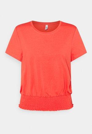 ONLDREA LIFE SMOCK  - Print T-shirt - cayenne