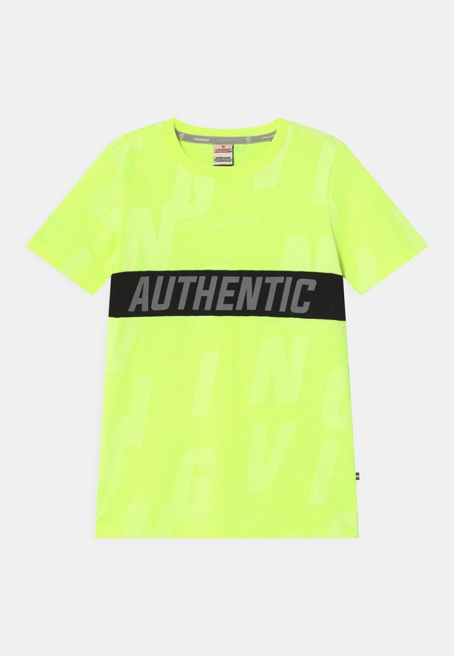 HECELLO - T-shirt imprimé - neon yellow