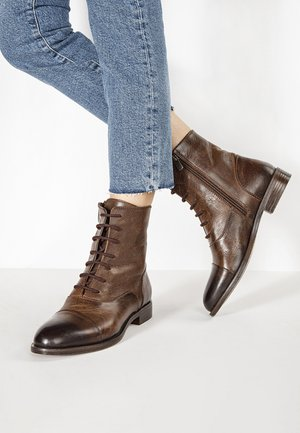Lace-up ankle boots - praline prn