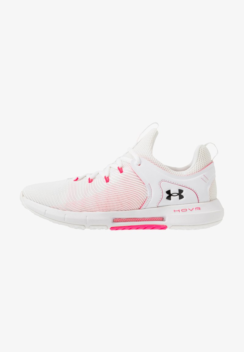 Under Armour - HOVR RISE - Neutral running shoes - white/black