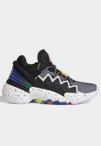 adidas Performance - D.O.N. ISSUE 2 UNISEX - Basketball shoes - core black/footwear white/solar red - 5