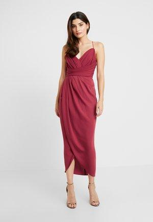 CHARLOTTE DRAPE DRESS - Cocktailkjole - burnt red