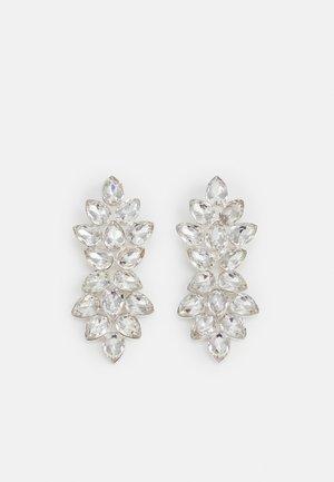 PCALBA EARRINGS - Earrings - silver-coloured/clear