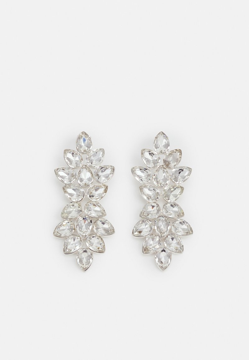 Pieces - PCALBA EARRINGS - Earrings - silver-coloured/clear