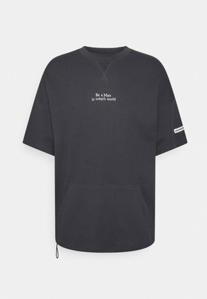 LUCA TEE UNISEX - Print T-shirt - ebony