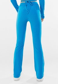 Bershka - Trousers - blue - 2