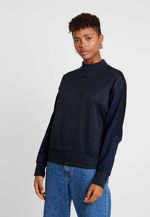 PLEAT LOOSE COLLAR - Sweatshirt - mazarine blue