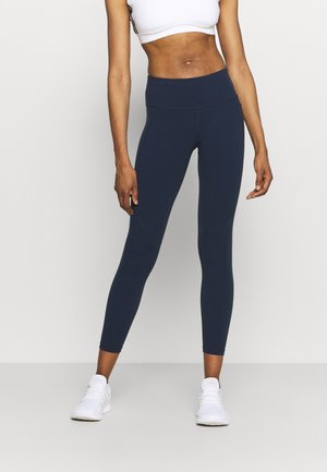 POWER WORKOUT 7/8 LEGGINGS - Punčochy - navy blue