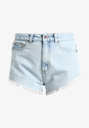 LADIES HOTPANTS - Denim shorts - blue bleached