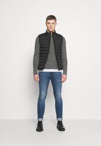 TOM TAILOR DENIM - SLIM PIERS BLUE STRETCH  - Slim fit jeans - used light stone blue denim - 1